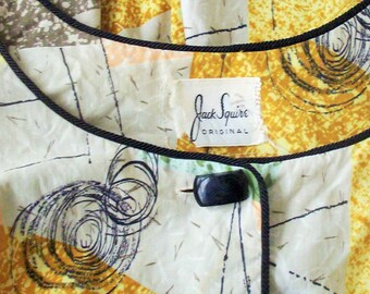 Vintage Dress / 1950's Furturistic / Jack Squire Original / Full and long