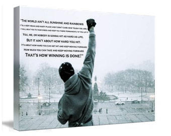 Rocky Balboa Movie Canvas Wall Art, Huge Print A1