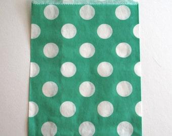 Teal Polka Dot Favor Bags