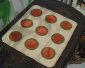 Watermelon Penny Rug, FAAP, OFG, HAFair