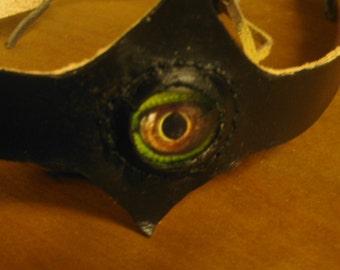 Headband, Leather,  Reptile Eye, Third Eye