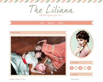 "WordPress theme Blog ""Liliana"" 