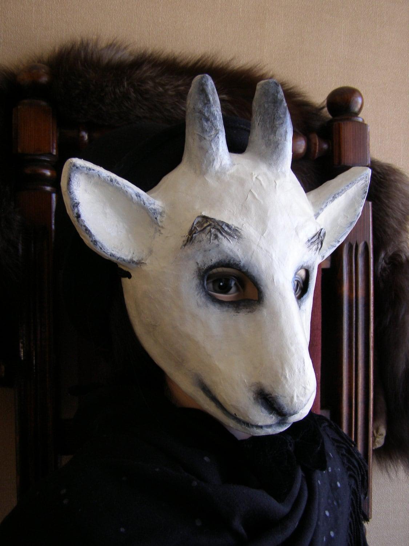 mascarade masque papier m ch ch vre masque masque animaux. Black Bedroom Furniture Sets. Home Design Ideas