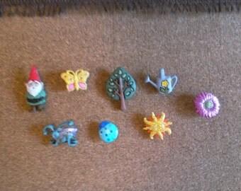 Spring Garden Theme Push Pins/Thumb Tacks