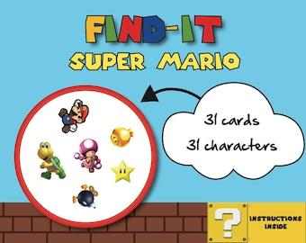 Super Mario Card Game (Spot-it! | Find it! | Double | Doble | Dobble)