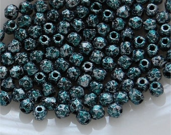 FIRE POLISH BEADS, 3mm, Tweedy Green, sold in units of 150