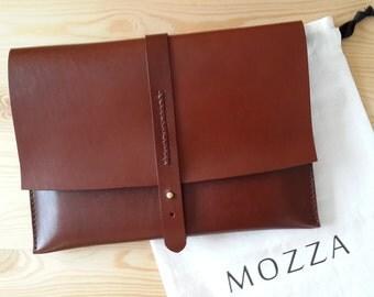 Handmade Leather Clutch iPad Case iPad Sleeve iPad Cover
