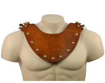 Solomon Leather Gorget - Fantasy Leather Armor - #DK5404