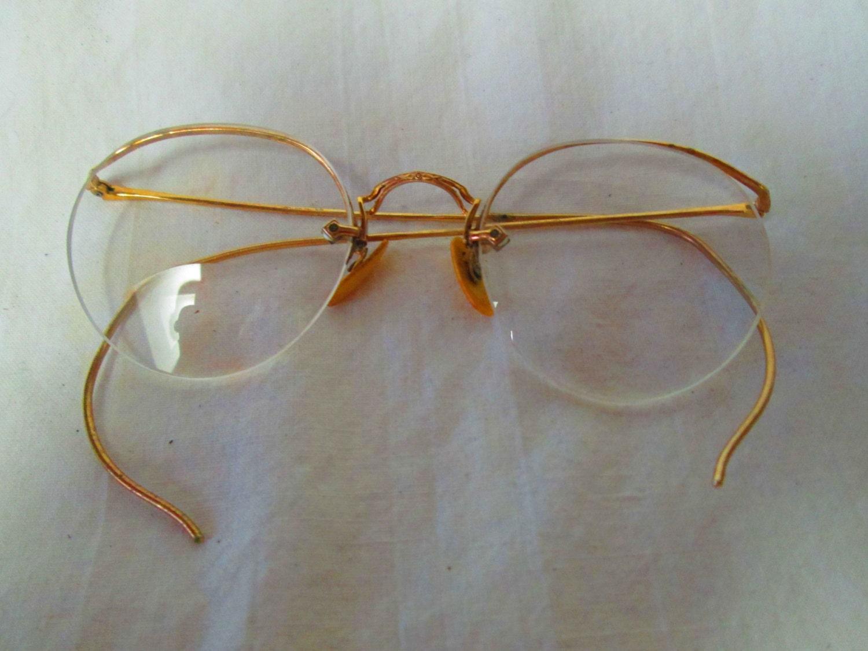 Fantastic Antique Wire Rim Glasses 12kt Gold Filled Bifocals