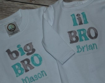 Big brother and little brother matching shirts