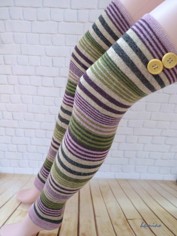 Knitting Pattern Thigh High Leg Warmers : Knit Thigh High leg warmers over the knee socks woman leg