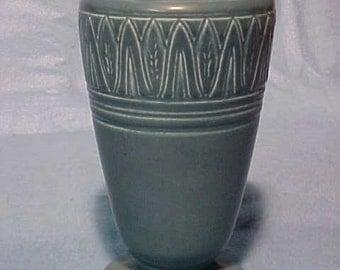 Rookwood Pottery Vase 2893 Matte Blue Trees
