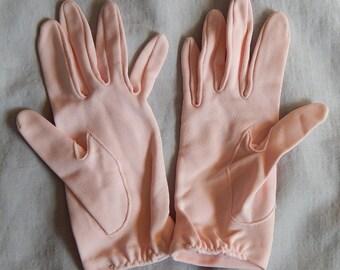 Vintage Pale Pink Gloves - Ladies' size 6, 1950s or 1960s
