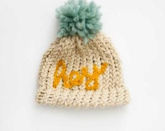 Hey! Newborn Hat