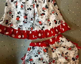 swing top and ruffle bloomers set
