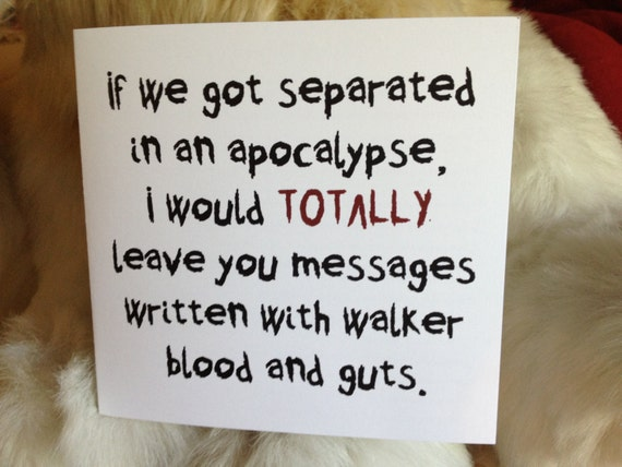 Great Valentineu0027s Day Card For A Walking Dead Fan Contains A Word Search  All About The Walking Dead.