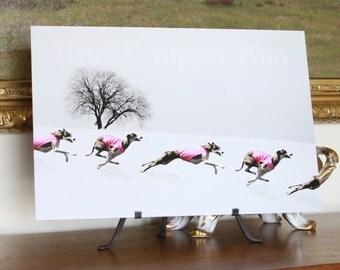 Whippet Winter Run Art (E)