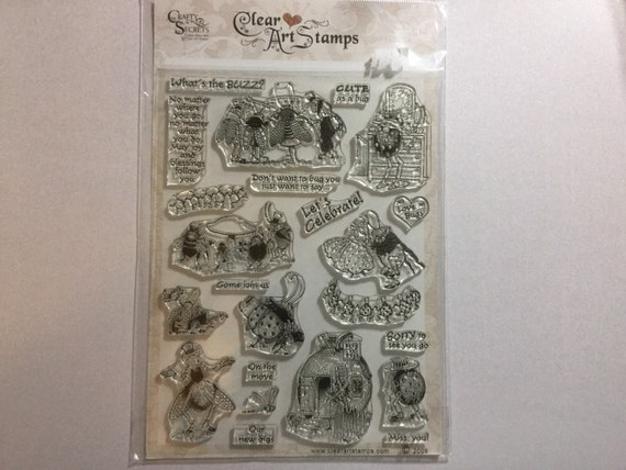 Crafty Secrets Bugs Life clear stamp set