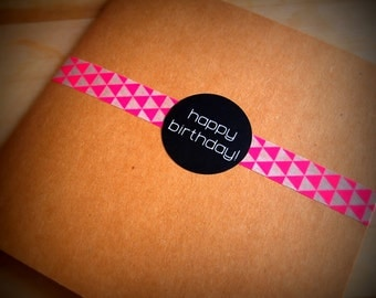 Happy Birthday stickers, labels and seals - Cardmaking, giftwrapping, envelope seal