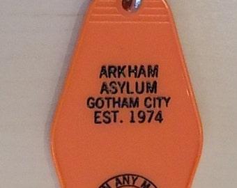 Batman Arkham Asylum Vintage style Keychain