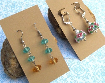 25 - Earring Cards - Post or Leverback and Pick Your Color