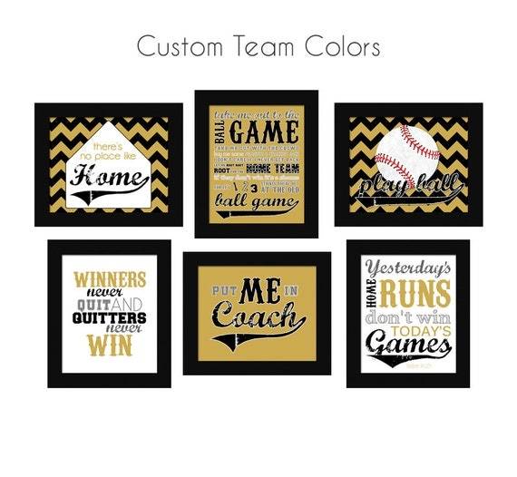 Https Etsy Com Listing 230871103 Baseball Theme Home Decor Set Custom