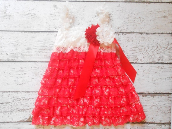 Red lace Dress , and set,Lace Flower girl dress ,Baby Lace Dress,Lace Dress, Ivory Lace dress