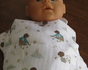 Babies, Belle and Boo printed muslin Belle and Chick baby wrap