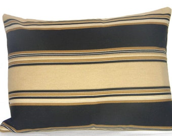 SALE ITEM, Pillow cover,  decorative throw pillow, Black and brown stripe pillow cover, fall pillow