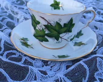 Royal Kent Green Ivy Teacup and Saucer