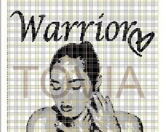 Demi Lovato Warrior Crochet Graphghan Pattern
