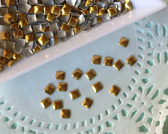 Gold Nail Studs - 3mm Gold Studs - Over 200 pieces