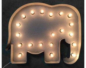 "24"" Elephant marquee, light up elephant, marquee sign, elephant"