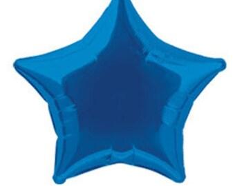 "20"" Blue Star Shaped Mylar Foil Balloon"