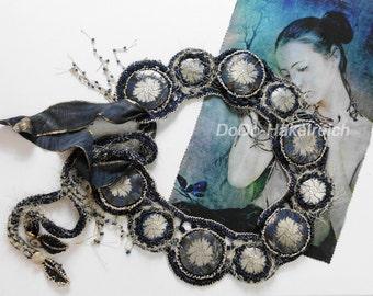 Textile belts, crocheted and sewn, boho, slow fashion, Renaiccance, Oktoberfest, traditional costumes, belly dance belts, glamour belt