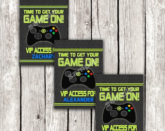 Gamer VIP Access Pass - Video Game Birthday Party - Editable - Add Your Own Names - DIY Printable - Instant Download