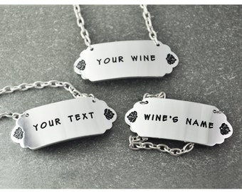 Free shipping - personalized  Wine Tags - Alcohol Bottle Labels - custom wine Tags - Bar Accessories -  wedding wine tags - gift for him