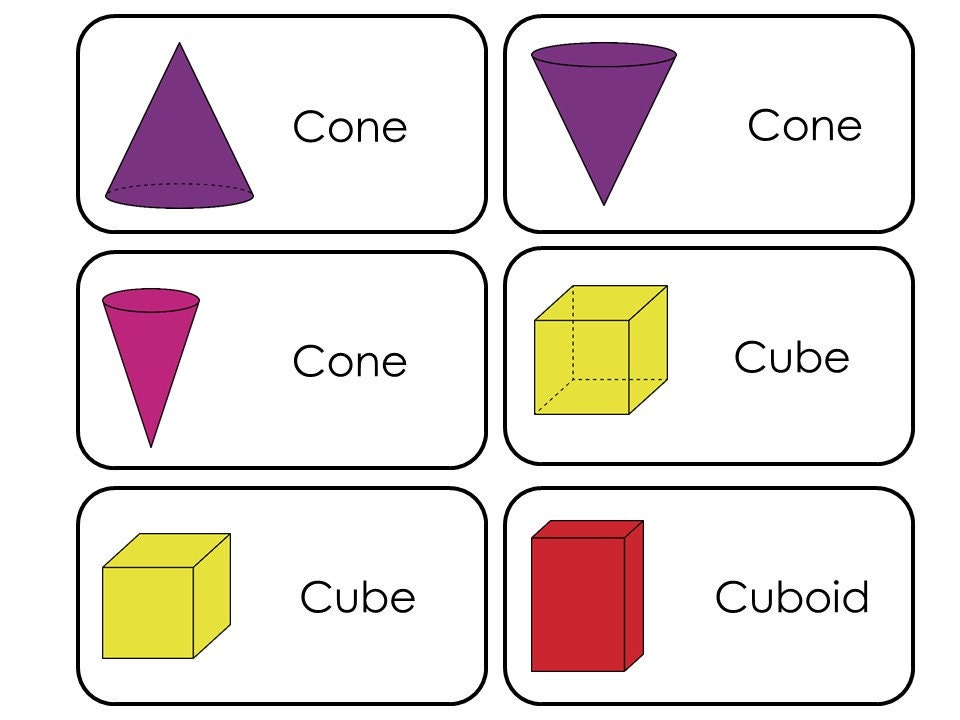 3d Shapes Flashcards Own 3d Shapes Flash Cards