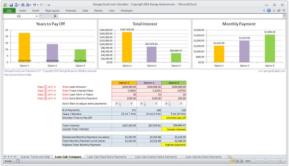 mortgage calculator excel spreadsheet