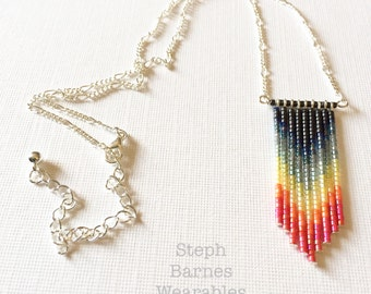 Rainbow ombré necklace