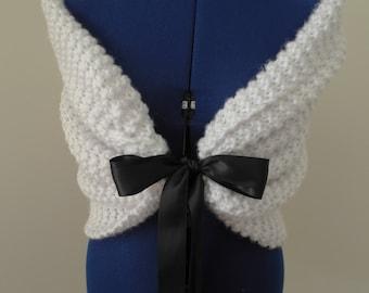Custom Hand Knit Shawl/Shrug/Bolero/Wrap/Bridal Shawl/Bridal Shrug/Bridal Bolero/Bridal Wrap