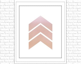 Pink Pastel Arrows Print | 8x10 Printable Art Print | Tribal Wall Art | Home Printable | Arrow Subway Art | Instant Download Printable