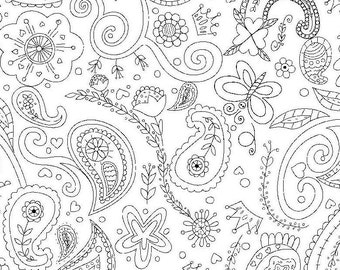 Color me by Hayley Crouse in Princess Paisley of Michael Miller fabrics