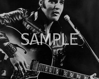 Fabric Art Quilt Block Elvis Presley EP128- FREE SHIPPING