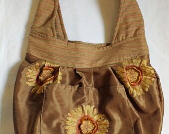 Sunflower Hobo Bag, Sunflower Bag, Sunflower Tote Bag