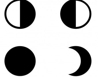 Moon phases - Temporary tattoo