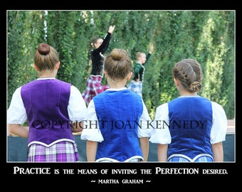 Highland Dancers (Beginner) watching Premier dancers, 12x8 original photograph