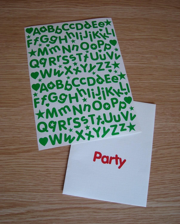 sticky back vinyl letters 15mm alphabet stickers for kids With sticky back vinyl letters