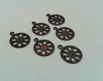 100 Pcs Copper Plated 13 mm Round Form Findings ,