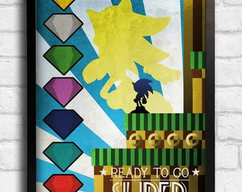 Sonic the hedghog - Super - Art Deco Style Art